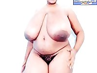 Fat ebony bbw titjob webcam