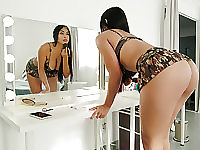 Voluptuous Latina Sara Takes Huge Cock