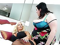 Alura Jensen and a fat babe make each other cum hard