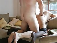 Someone's grandma gets ass fucked for the first time by very small dick