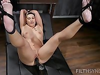 Fox Acecaria gets her wet cunt destroyed with a big black dildo