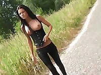 Sexy Hotty appointed as a street cutie and Drilled