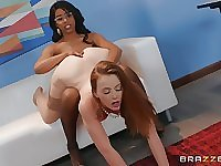 Interracial teen lesbian couple Danni Rivers and Jenna Foxx