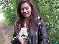Asian amateur finds herself in the position of fucking for cash