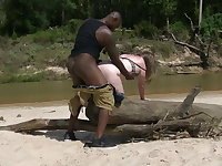Fat wife goes to Africa for a real hard dick