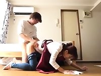 Dildoing asian teen rammed hard doggystyle