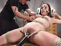 Hairy tied up bitch bootie fingered and shagged
