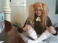 Holly Sissy AB Brownie spanked and roughly barebacked by daddy