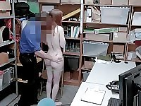 Hot Skinny Redhead Teen Shoplifter Gets Caught Stealing